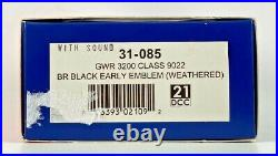 Bachmann 00 Gauge 31-085 Gwr 3200 Class 9022 Br Black Weathered DCC Sound