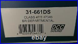 Bachmann 31-661DS Class 47/3 No. 47346 BR DEPARTMENTAL DCC/SOUND Fitted