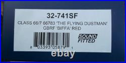 Bachmann 32-741SF Flying Dustman GBRF Class 66/7 66783 Biffa red DCC Sound fittd