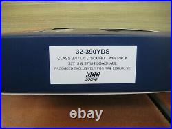 CLASS 37/7 DCC SOUND TWIN PACK by BACHMANN 32-390YDS NEVER RUN POST INCL