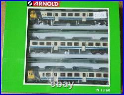Hornby Arnold N Gauge HN2411S 3 piece RENFE DMU Class 592 Era IV NEW DCC/Sound