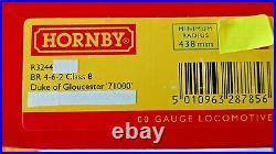 Hornby R3244TTS BR 4-6-2 Class 8 DUKE OF GLOUCESTER No. 71000 NO SOUND DCC Ready